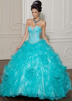 Vizcaya Organza Ruffle Quinceanera Ball Gown by Mori Lee 88011    frenchnovelty.com
