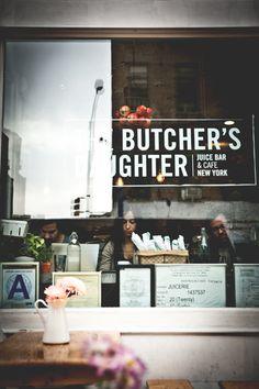 The Butcher's Daughter, Juice bar & cafe, New York. Photo by Sophia van den Hoek