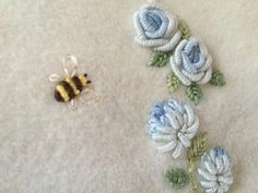 Wonderful Ribbon Embroidery Flowers by Hand Ideas. Enchanting Ribbon Embroidery Flowers by Hand Ideas. Bullion Embroidery, Brazilian Embroidery Stitches, Wool Embroidery, Silk Ribbon Embroidery, Hand Embroidery Patterns, Machine Embroidery, Embroidery Supplies, Embroidery Needles, Flower Embroidery
