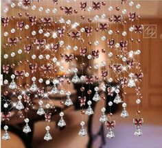 crystal beaded curtain,glass beads curtain, crystal beads curtain J-064. $112.00, via Etsy.