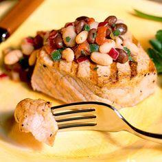 Easy Pork Chop Recipe: Pork Chops with Black-and-White Salsa - 12 Flavorful Pork Chop Recipes - Southern Living