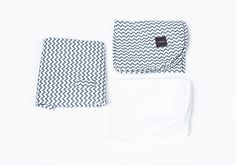 all three, chevron grey liner, fitted sheet and waterproof sheet for Wool Nest #mosesbasket #bassinet #bedding #baby