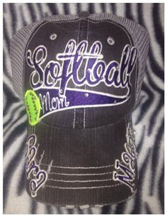 Fastpitch or Softball Mom Hat by RebelChicks on Etsy Softball Mom Shirts, Softball Gifts, Cheerleading Gifts, Softball Clothes, Softball Stuff, Basketball Gifts, Soccer, Team Apparel, Sports Apparel
