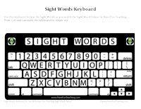 Sight Words Keyboard Worksheet - Have Fun Teaching