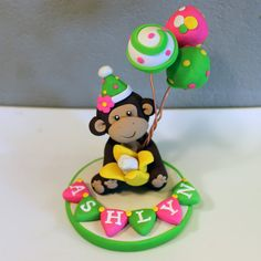 LARGE Monkey Custom Cake Topper for Birthday or Baby by carlyace, $29.95