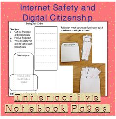 Internet safety and digital citizenship interactive notebook foldables. Blog post about how to use these foldables in your internet safety instruction.