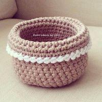 Cestos de #ganchillo hechos por Gina con #Katia Cotton Cord y Panama   #Crocheted baskets made by Gina with Katia Cotton Cord