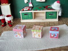 1:12 scale Christmas printable - tiny boxes - graphics provided