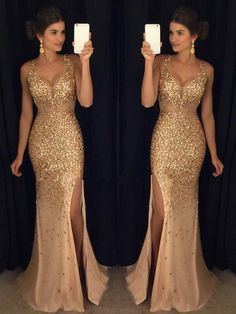 Luxurious Mermaid V-neck Sequin Gold Long Prom Dresses V-neck Prom Dresses Sequin Prom Dresses Sleeveless Prom Dresses Prom Dresses Mermaid Prom Dresses Prom Dresses Long Sequin Prom Dresses, V Neck Prom Dresses, Prom Dresses 2018, Mermaid Evening Dresses, Prom Dresses Online, Cheap Prom Dresses, Evening Gowns, Prom Gowns, Dress Prom