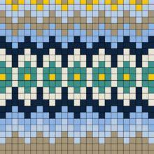Bindemønster - Krokbragdåkle fra Ål 3 - Åklær fra Buskerud - Fagsider - Norges Husflidslag Knitted Mittens Pattern, Fair Isle Knitting Patterns, Knitting Charts, Weaving Patterns, Inkle Weaving, Inkle Loom, Bead Weaving, Peg Loom, Tapestry Crochet