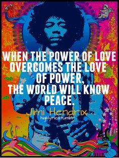 Jimi Hendrix on the power of love