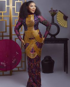 African Fashion Ankara, African Print Fashion, Africa Fashion, African Wear, Ethnic Fashion, Fashion Women, King Dress, Dinner Gowns, African Lace Dresses