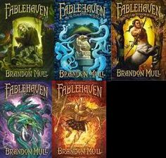 FableHaven: FableHaven, Rise of the Evening Star, Grip of the Shadow Plague, Secrets of the Dragon Sanctuary, Keys to the Demon Prison                   By: Brandon Mull