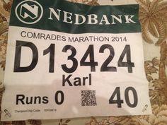 Karl's first Comrades Marathon. 89kms. 10:37.