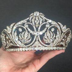 New European Retro Glitter Drop Shape Diamond Crown Bride Luxury Diamante Tiara