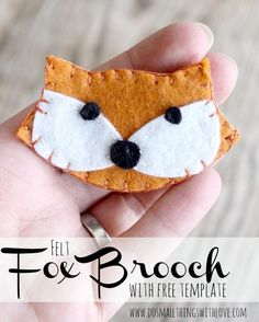 felt fox brooch with free template