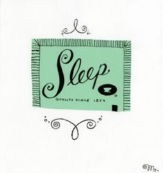 Sleep Sugar Packet by Melinda Beck.