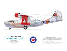 Canadian Vickers Canso rebuilt for RCAF Search and Rescue duties. Plane Photos, Aircraft Photos, Coast Guard Rescue, Nova, Modern Cabins, Antique Tractors, Flying Boat, Canadian History, Air Space