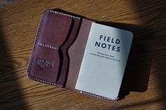 Leather Field Notes Wallet The Expedition by TrueNorthLeatherGood