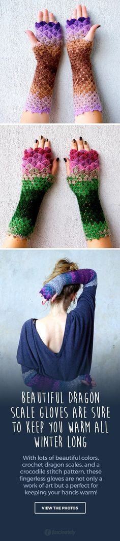 Beautiful Dragon Scale Gloves Are Sure to Keep You Warm All Winter Long