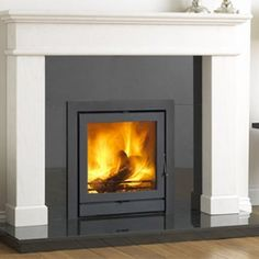 Buy Online: The Balmoral Limestone Fireplace Surround Stone Tile Fireplace, Inset Fireplace, Wood Burner Fireplace, Marble Fireplaces, Fireplace Surrounds, Fireplace Mantels, Fireplace Ideas, Fireplace Redo, Inset Stoves