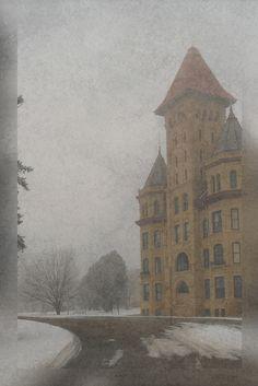 Foggy Day Fergus Falls, MN  State Hospital