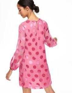 Silk Satin Spot Dress