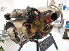 Marbore-gas turbine cutaway