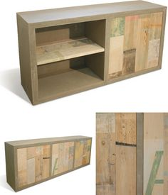 I NEED IT! modern recycled wood cabinets