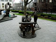 The Dr. Seuss National Memorial Sculpture Garden is located at the Quadrangle (21 Edwards St.) in Springfield.