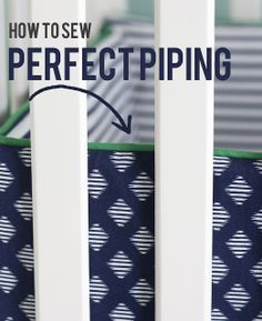 How to sew perfect piping! Elle Apparel: sewing basics series: #piping #sew #sewingturorial