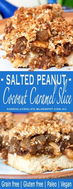 Who doesn't love a good crumble, covering a yummy layer of sweet and gooey caramel, filled with salted peanuts and chewy sultanas on a he...