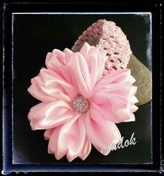 Haarbänder - Haarband / Stirnband rosa Blüte *Kanzashi* - ein Designerstück von Made-by-Dori bei DaWanda