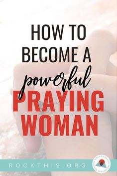 Need help reigniting your prayer life? Here is a great article with prayers to get you started, and the best part? They're based on actual Scripture. #prayer #powerofprayer #rockthisrevival