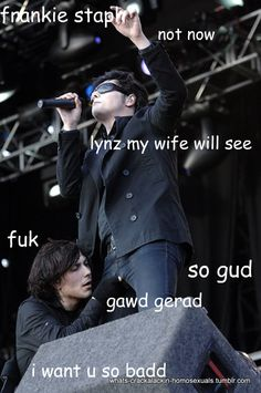 U can do this latet Frank stop oh my god frank people are watching!!!!!! Hehe I write fan fiction