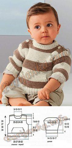 20 Ideas crochet baby clothes boy design for 2019 Baby Boy Knitting Patterns, Baby Sweater Patterns, Baby Cardigan Knitting Pattern, Knit Baby Sweaters, Knitting For Kids, Baby Patterns, Crochet Baby Clothes Boy, Crochet Girls, Pull Bebe