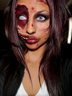Halloween makeup-zombie like? Zombie Halloween Makeup, Zombie Makeup, Halloween Make Up, Halloween Ideas, Halloween Costumes, Creepy Makeup, Zombie Costumes, Pretty Halloween, Sfx Makeup