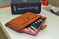 Shop for on Etsy, the place to express your creativity through the buying and selling of handmade and vintage goods. Canvas Wallet, Samsung Galaxy S, Leather Accessories, Leather Working, Leather Craft, Leather Wallet, Wallets, Ipad, Pouch