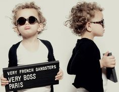 Funny-Kids mugshot photoshoot for Very French Gangsters Eyeware