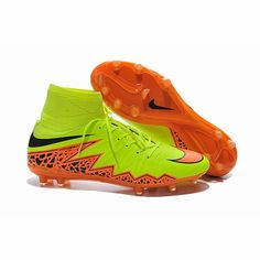 0a3dfdbd5429 Nike Hypervenom 2 Phantom Premium FG Flyknits Cleats Yellow Red Black  $105.00 Nike Soccer Shoes,