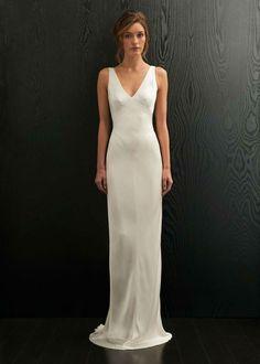 a7a8a8d35b 30 Minimalist and Elegant Wedding Dress Ideas. Silky Wedding DressWhite  Simple Wedding DressFitted Wedding GownElegant ...