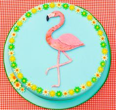 Handmade hand painted by Lady Luck's House of Cakes x Cupcake Cakes, Cupcakes, Flamingo Cake, Hand Painted Cakes, Birthday Cake, Lady, Desserts, Handmade, House
