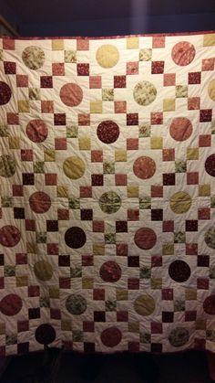 Irish chain finalizado #patchwork #quilting #fabric