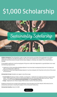 Twenty (20) $1,000 scholarships will be awarded by Prysmian Group! Scholarships For College, College Students, Technical Schools, High School Seniors, Sustainability, University, How To Apply, Group, Tips