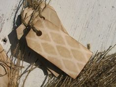 Rustic Tags with burlap string ... for the gift bags :)