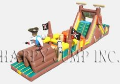 Inflatable Interactive Games: Pirates Obstacle Challenge - IG5133