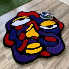Love Canvas, Canvas Ideas, Canvas Prints, Balloon Dog Sculpture, Funky Rugs, Aesthetic Rooms, Custom Rugs, Wrapped Canvas, Arts And Crafts