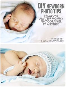 I love taking photos of my kids..and when they are newborn, you REALLY want to capture their tiny little cuteness! Newborn Photos are soooo adorable… and with a few tips and tricks you can get really cute photos YOURSELF!   I am not a professional..I just like to take photos.. and take them a lot…learning as I go!   I thought I would try out some cute newborn poses with my Micah and share what I did to make these shots happen!   CAMERA: Canon Rebel T1i LENSES: 18-55mm and 50mm (I shot most…