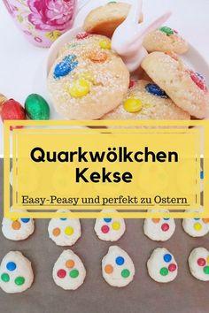 Perfekte Kekse für Ostern. Quarkwölkchen sind luftig leichte Kekse, die man individuell je nach Geschmack belegen kann. Ein kinderleichtes Familienrezept. Mit Thermomix und mit Handmixer zu mache