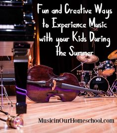 Here are some fun and creative ways to experience music with your kids this summer. High School Curriculum, Homeschool Curriculum, Homeschooling Resources, Online Music Lessons, How To Start Homeschooling, Preschool Music, Family Night, Field Trips, Family Activities
